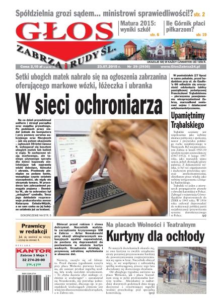 Głos Zabrza I Rudy Śląskiej - tygodnik - prenumerata kwartalna już od 2,90 zł